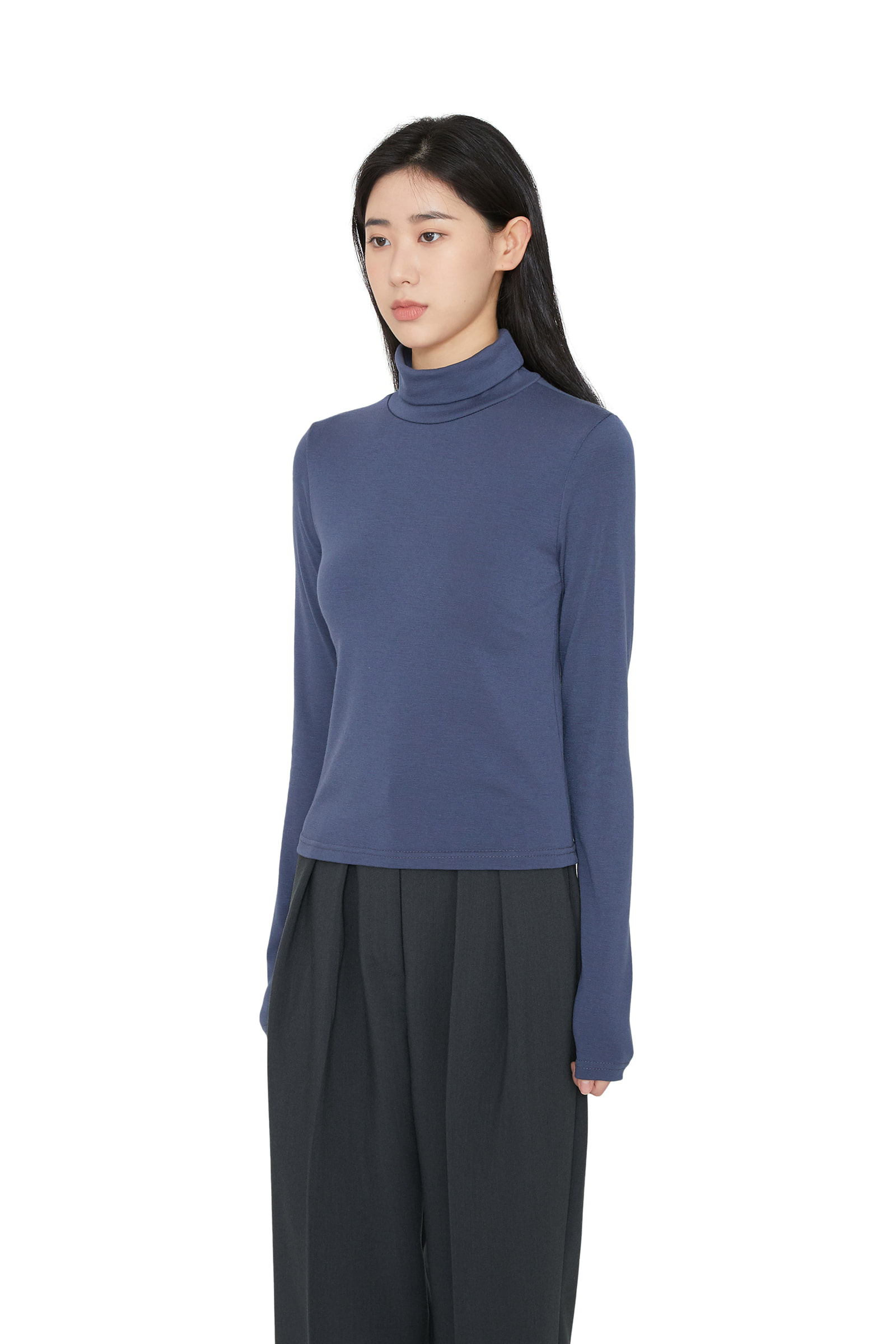 Layer Fleece-lined turtleneck top