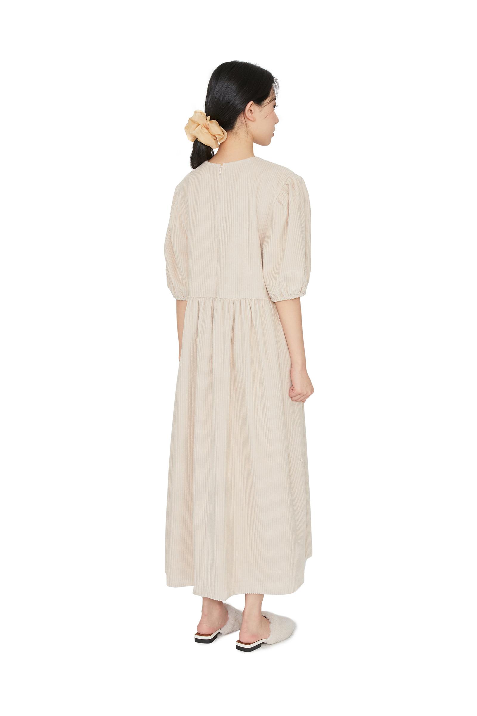Bubble corduroy maxi dress