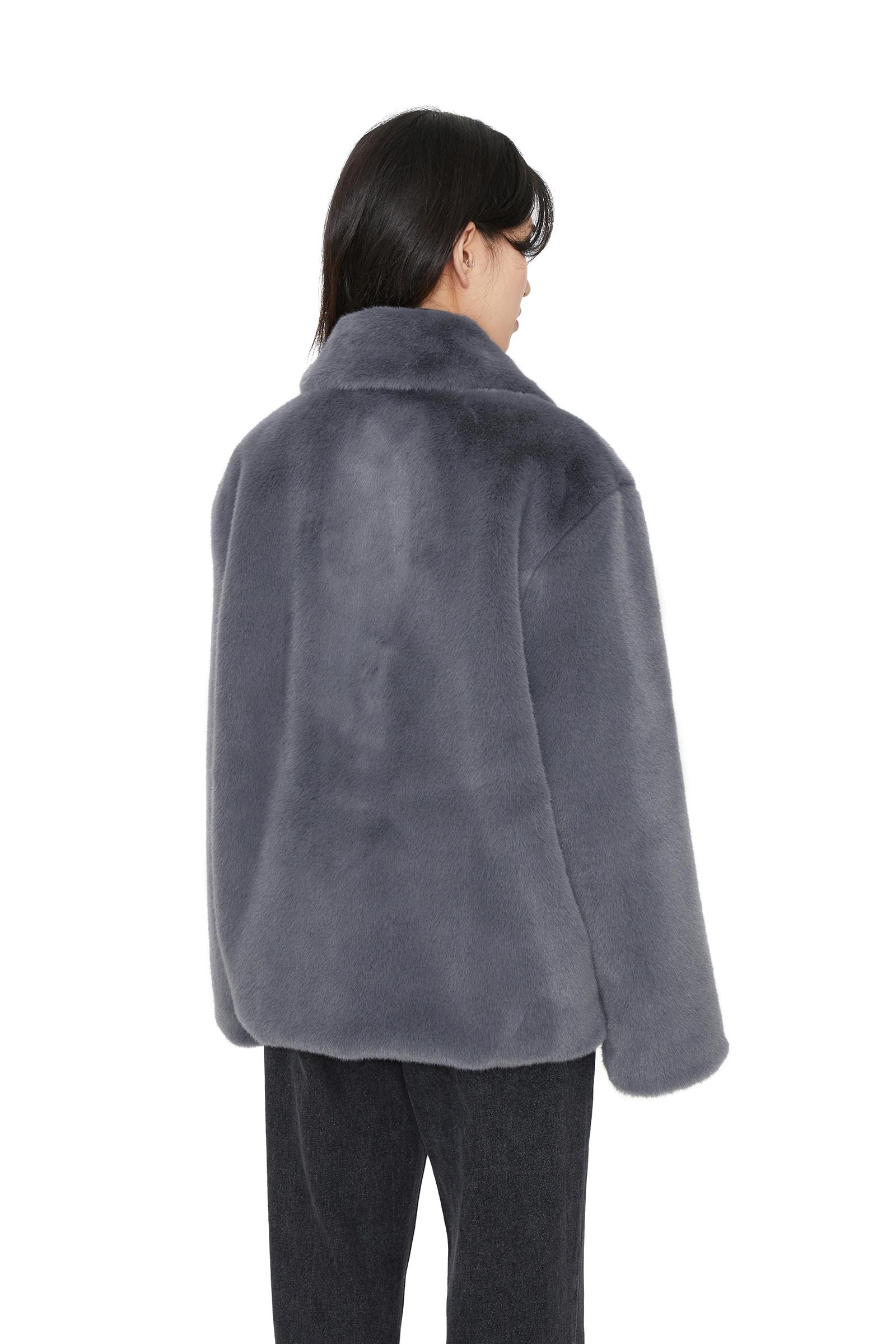 Fold mink fur jacket