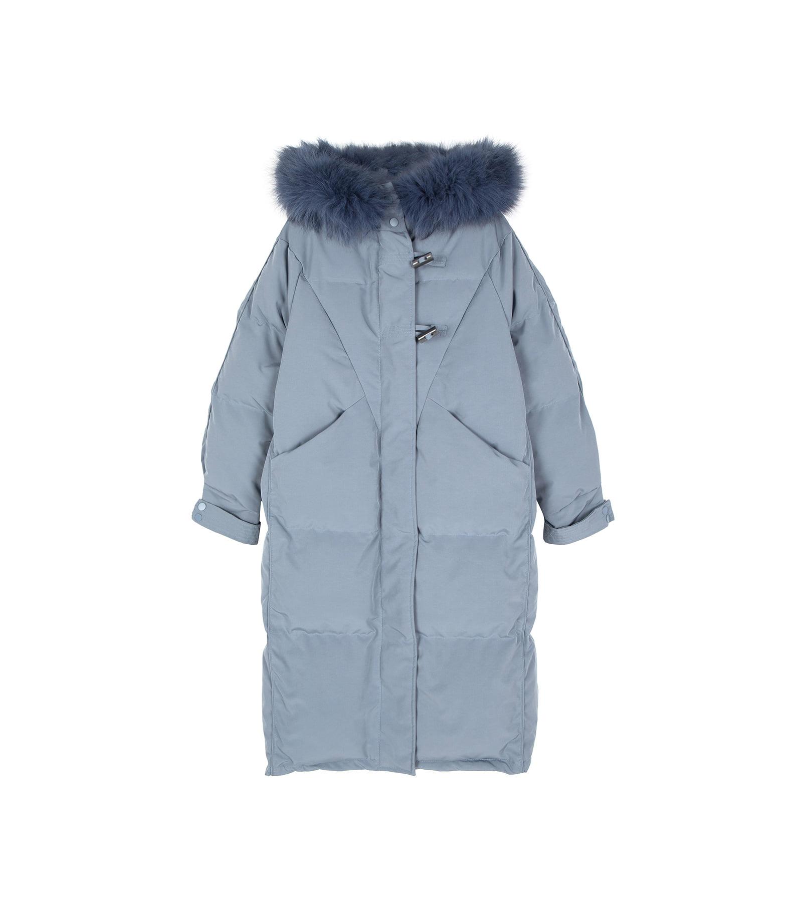 Pudding toggle long padded coat