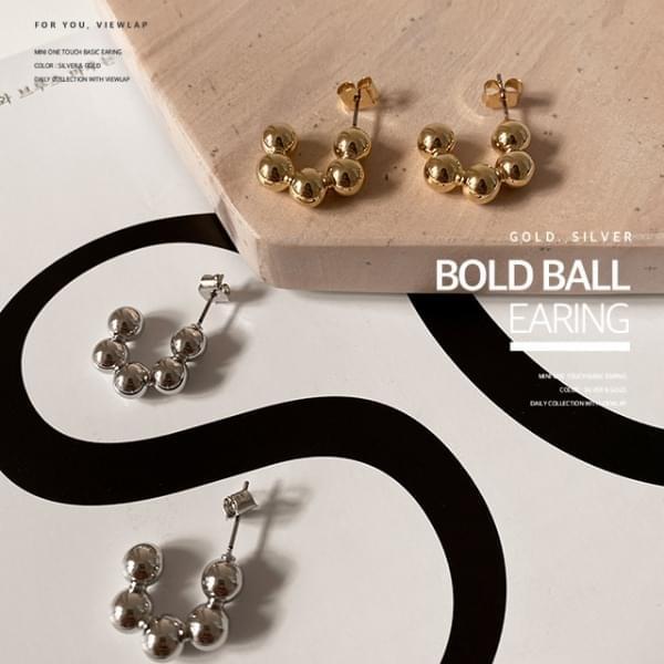 Bold Ball Donut Ring Earrings Earrings 耳環
