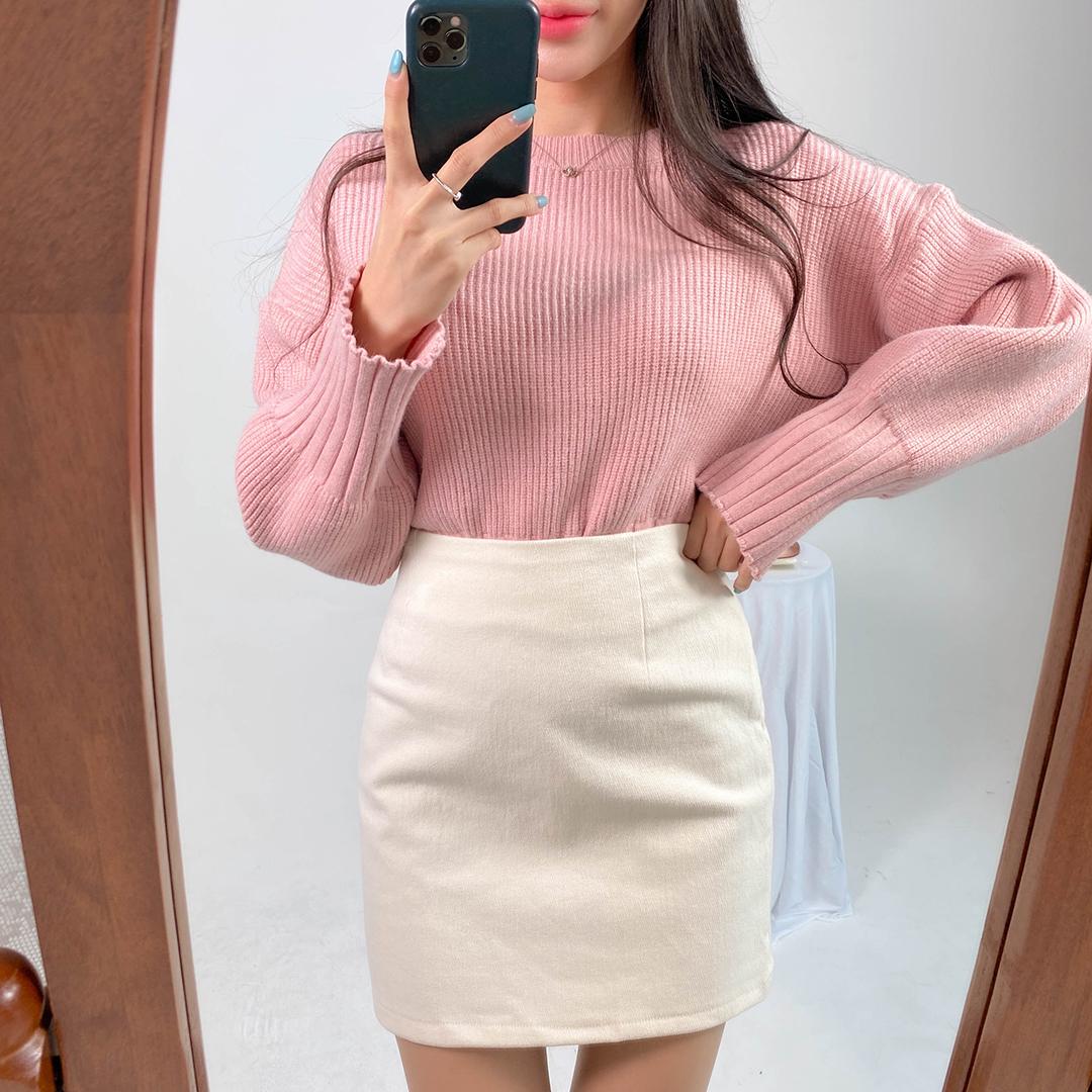 Fleece-Lined Mini Skirt