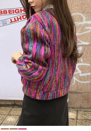 Shiny color cardigan