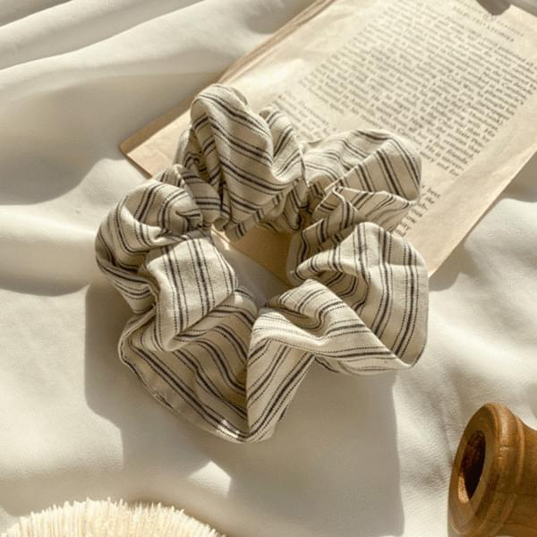 Black white striped giblets band 配飾
