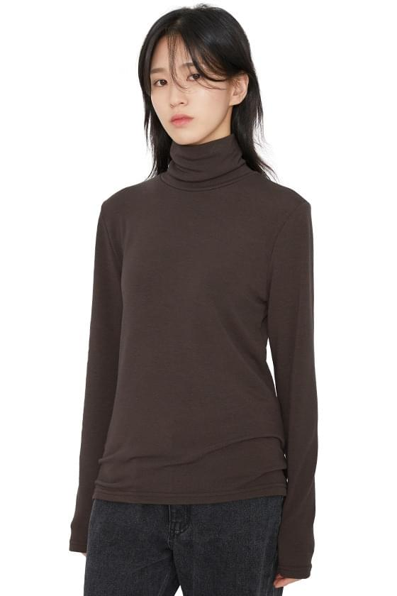 Cream Puff Basic Turtleneck Top (Delayed delivery)