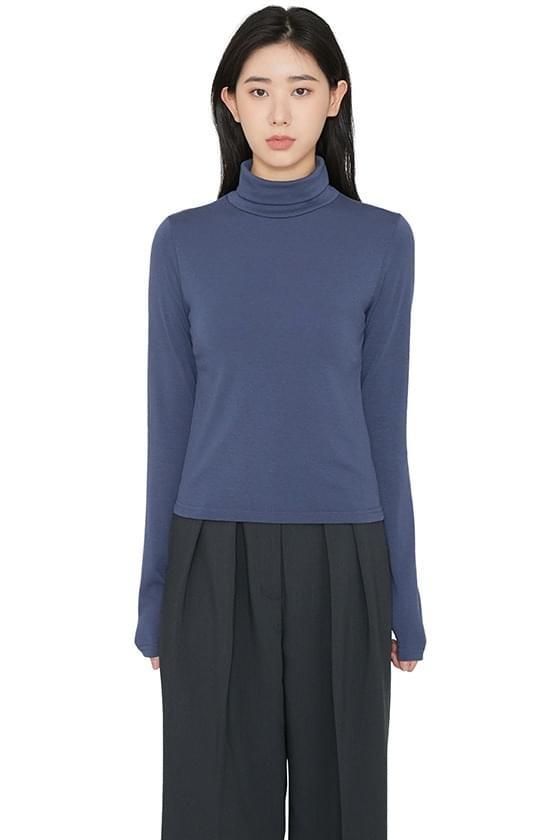 Layer Fleece-lined turtleneck top Long Sleeve