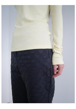 peak quilted trousers (2c)