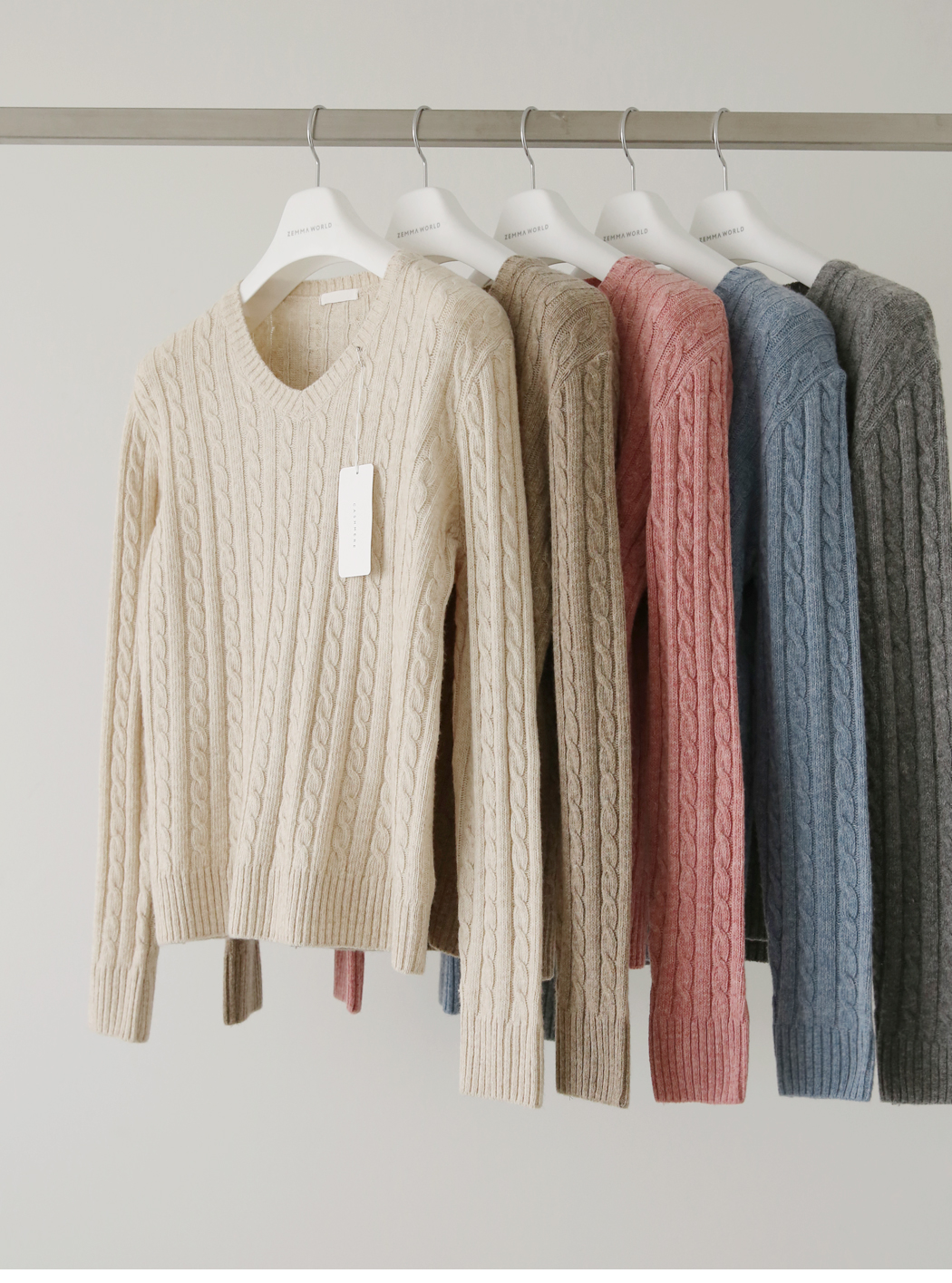 《Planned Product》 Pine Wool Cashmere Cable Knit