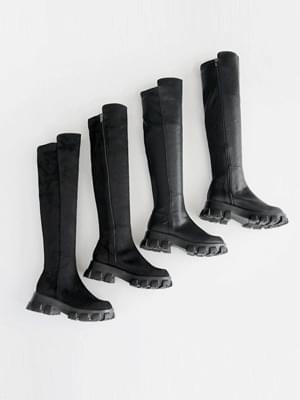 Roroni socks knee-high boots 6cm 靴子