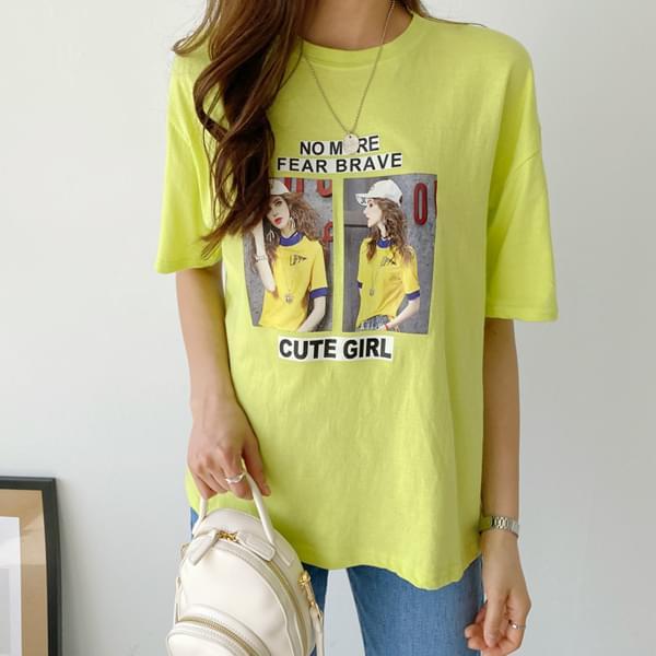 Cute Girl Printing T-shirt #108222