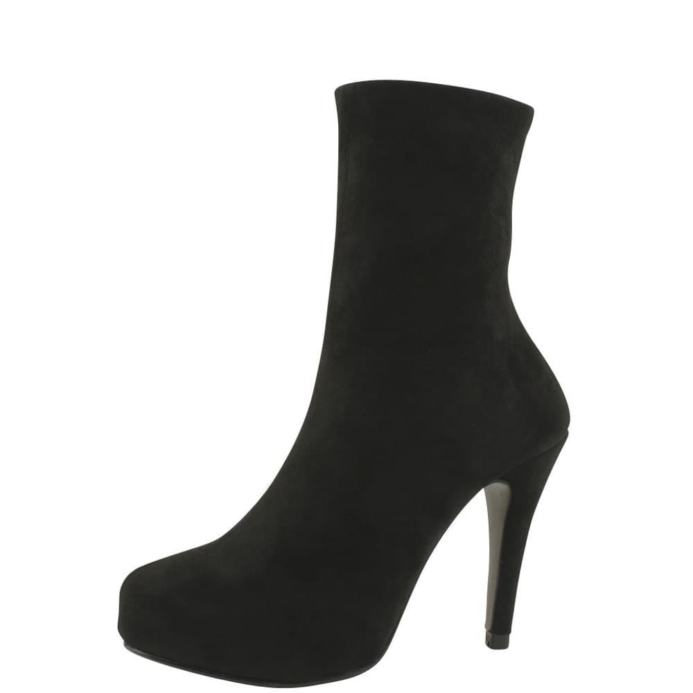 Go Inside Kill Heel Span Ankle Boots Black 靴子