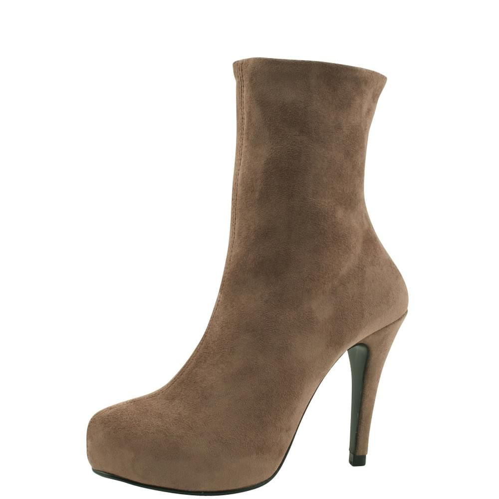 Get inside the kill heel span ankle boots beige