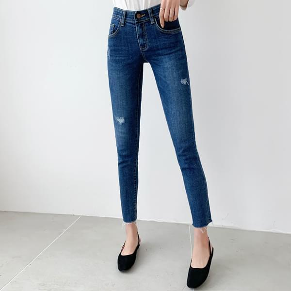 Slimline Banding Denim Pants #75408