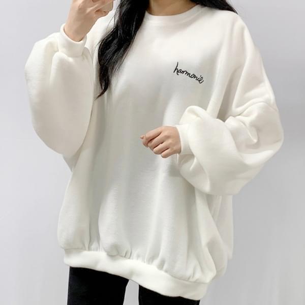 Fleece embroidered sweatshirt