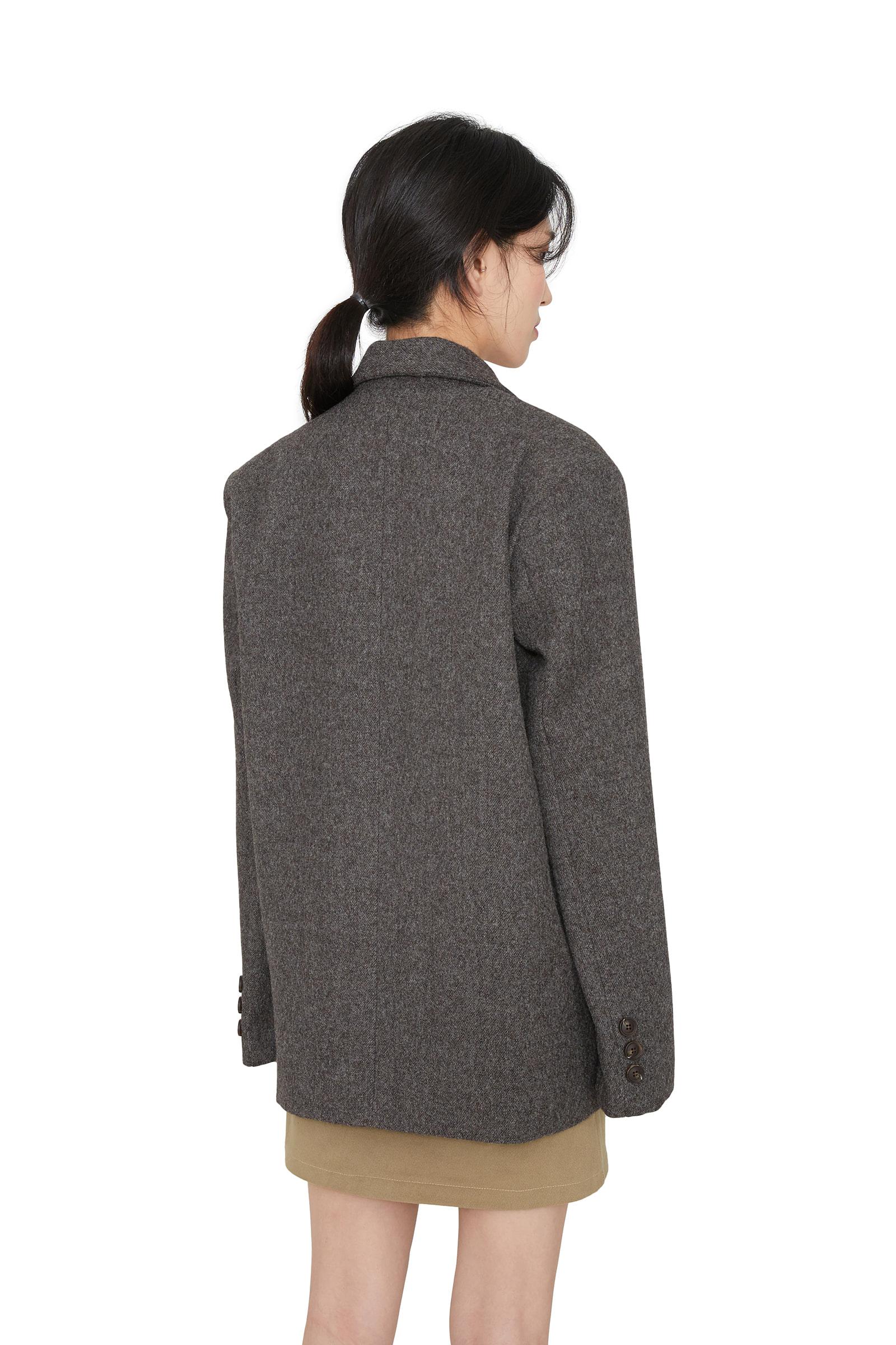 Modern wool single blazer