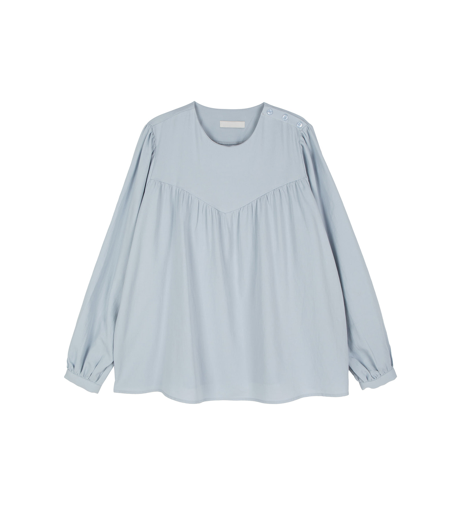 Cosette buttoned ruched blouse