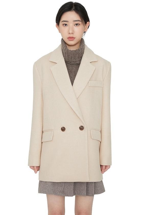 Maria double button half coat 大衣外套