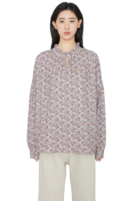 Wave floral blouse 襯衫