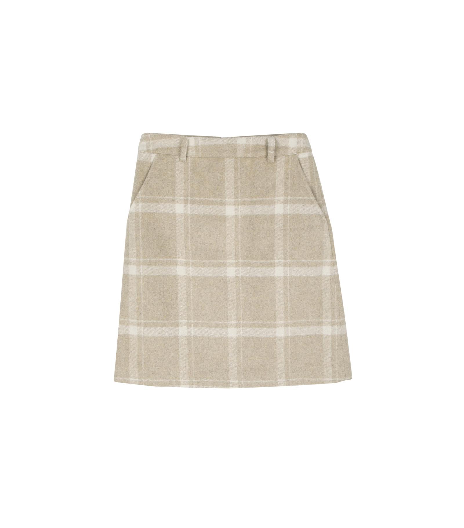 Whiz check midi skirt