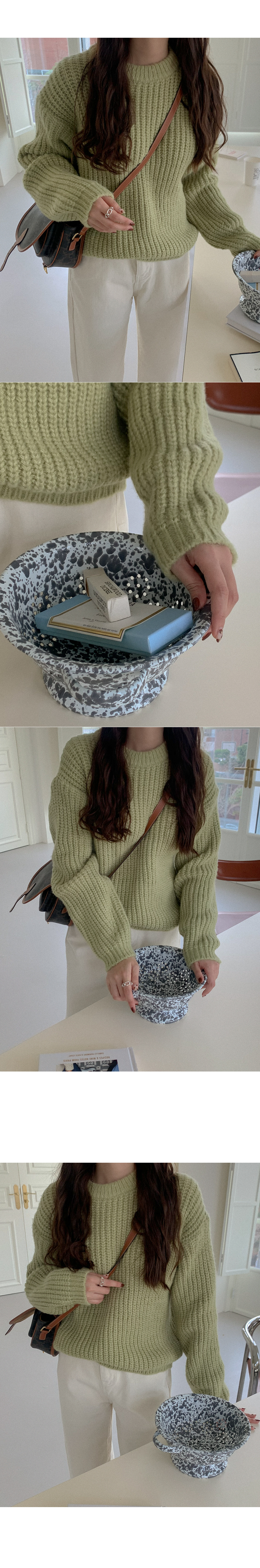 Minings Color Round Knit