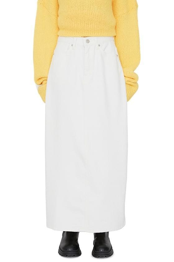 Kinder brushed cotton maxi skirt 裙子