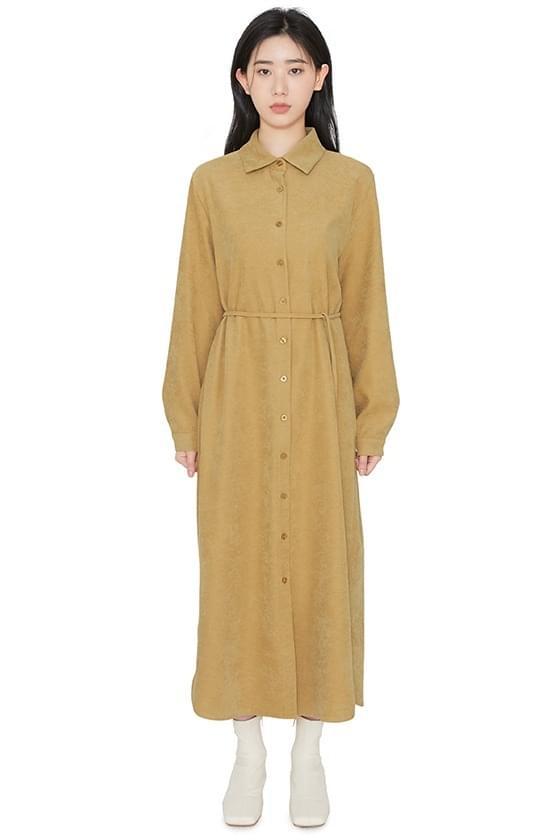 Carol suede maxi dress 洋裝