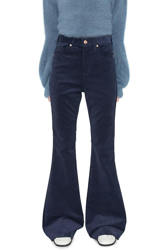 Waist corduroy bootcut trousers 長褲