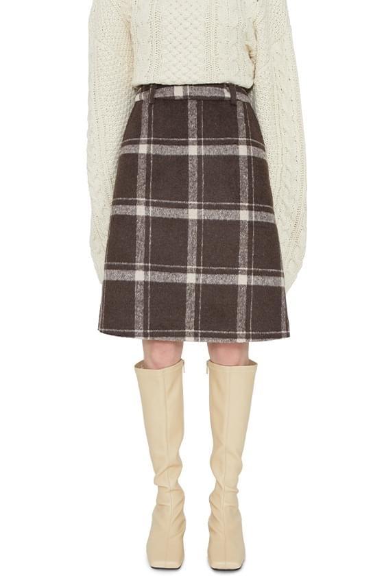 Whiz check midi skirt 裙子