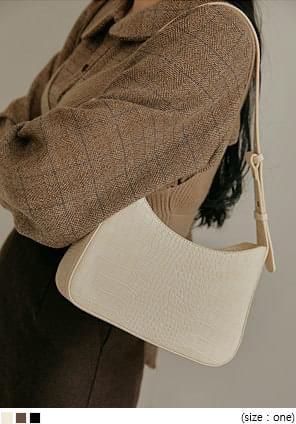 Croc Texture Faux Leather Bag