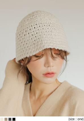 素面款針織漁夫帽
