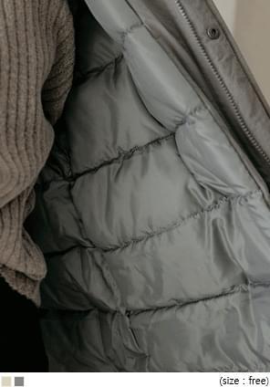 可拆式仿皮草連帽保暖外套