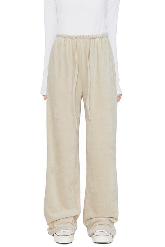 Hereie velvet long track pants 長褲