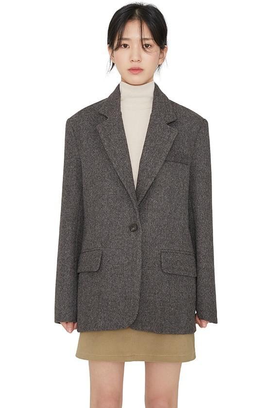 Modern wool single blazer 夾克外套