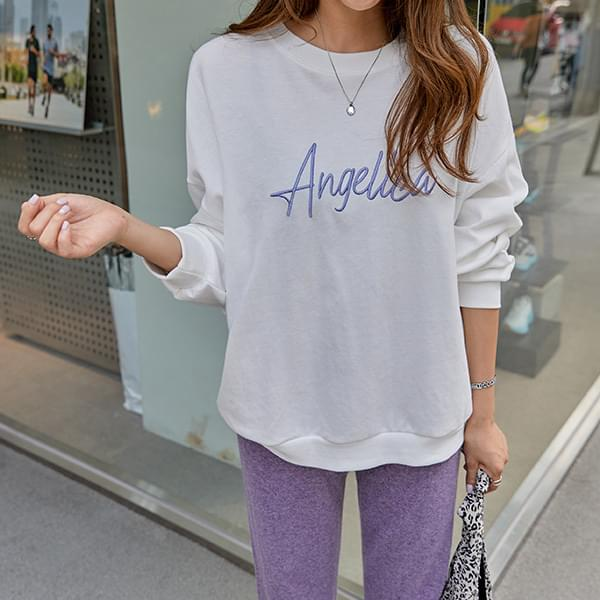Angel Embroidered Sweatshirt #108445