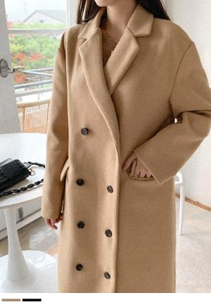 Charming day double button coat