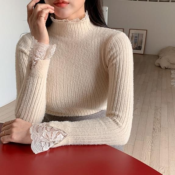 Canopy lace knit ♥ layered effect: D