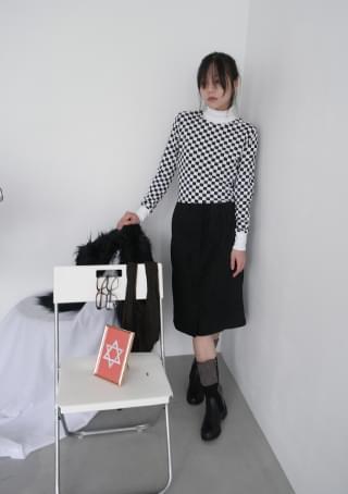 韓國空運 - dense seam suede midi skirt 裙子