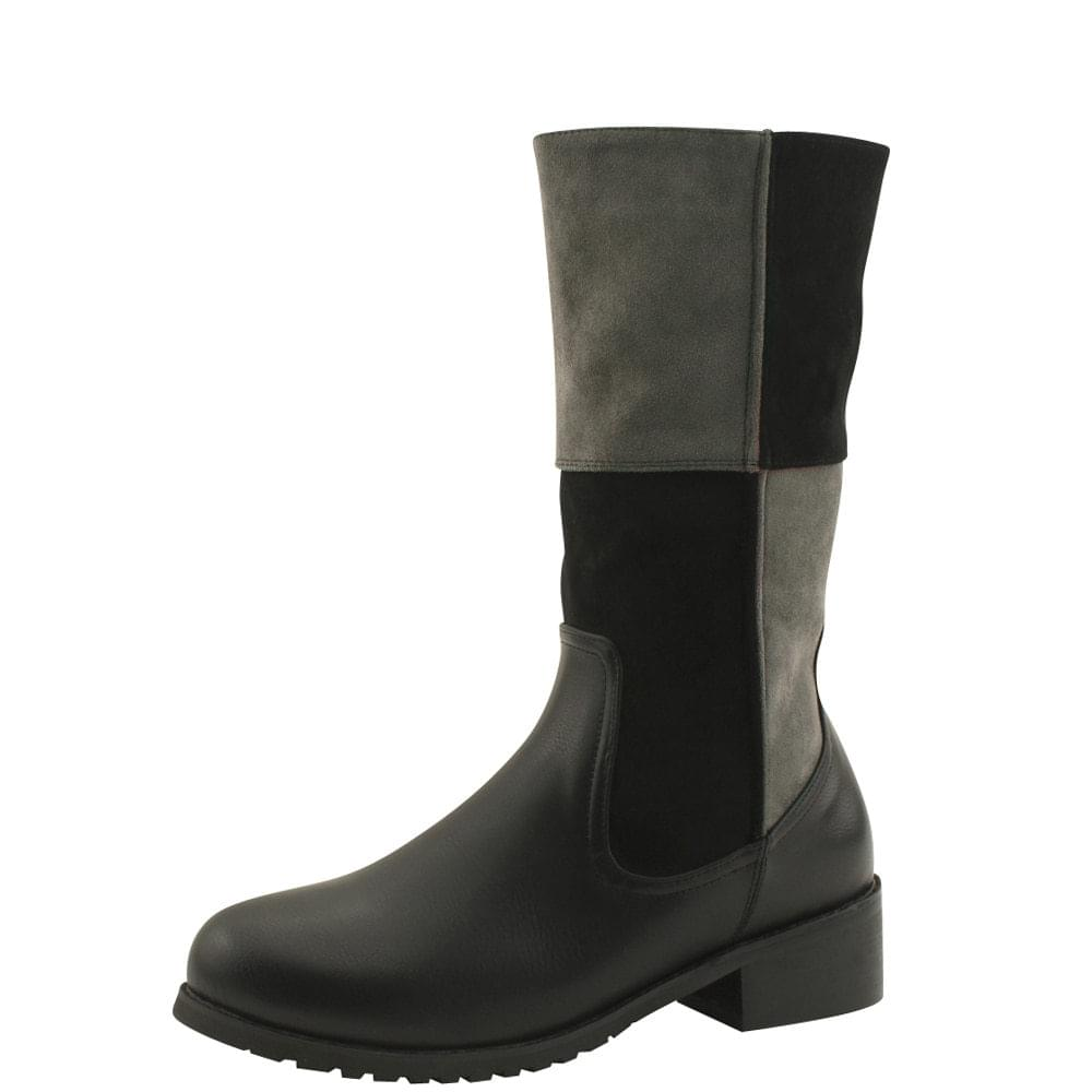Mustang Two-tone Brushed Middle Boots Black
