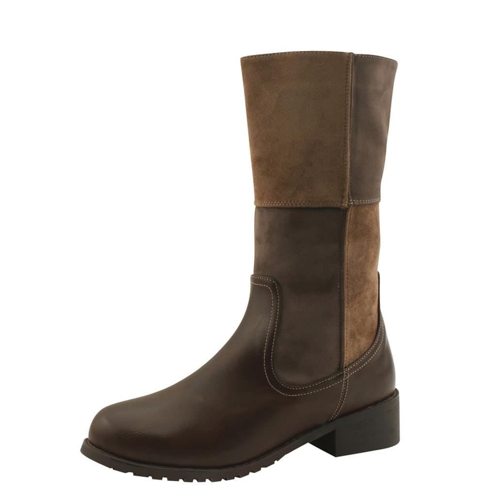 Mustang two-tone brushed middle boots brown