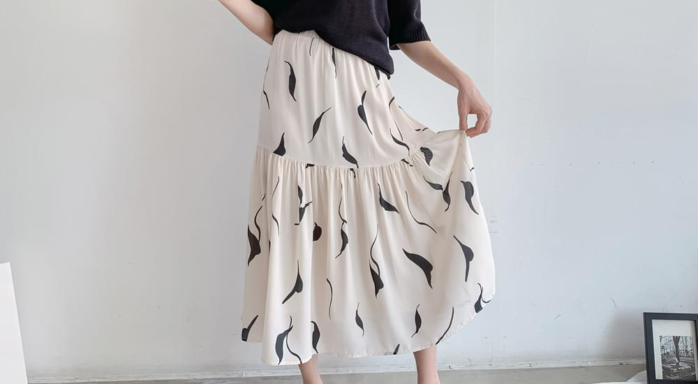 Mir Banding Long Skirt #51118