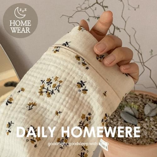 #homewear:_lua flower pajamas set
