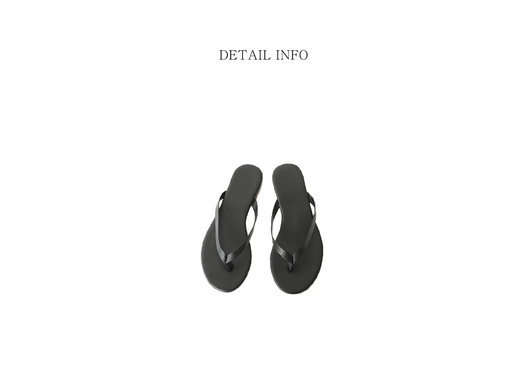 smooth texture flip flops (5colors)