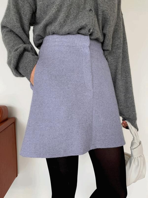 韓國空運 - Lavender Mini Skirt 裙子