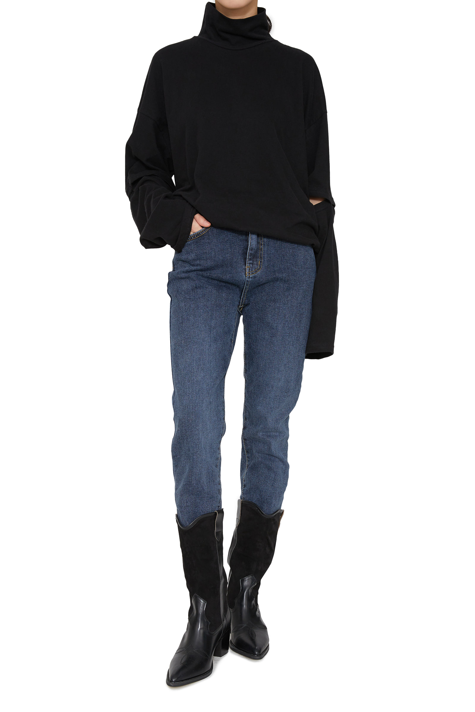 Perry brushed slim jeans