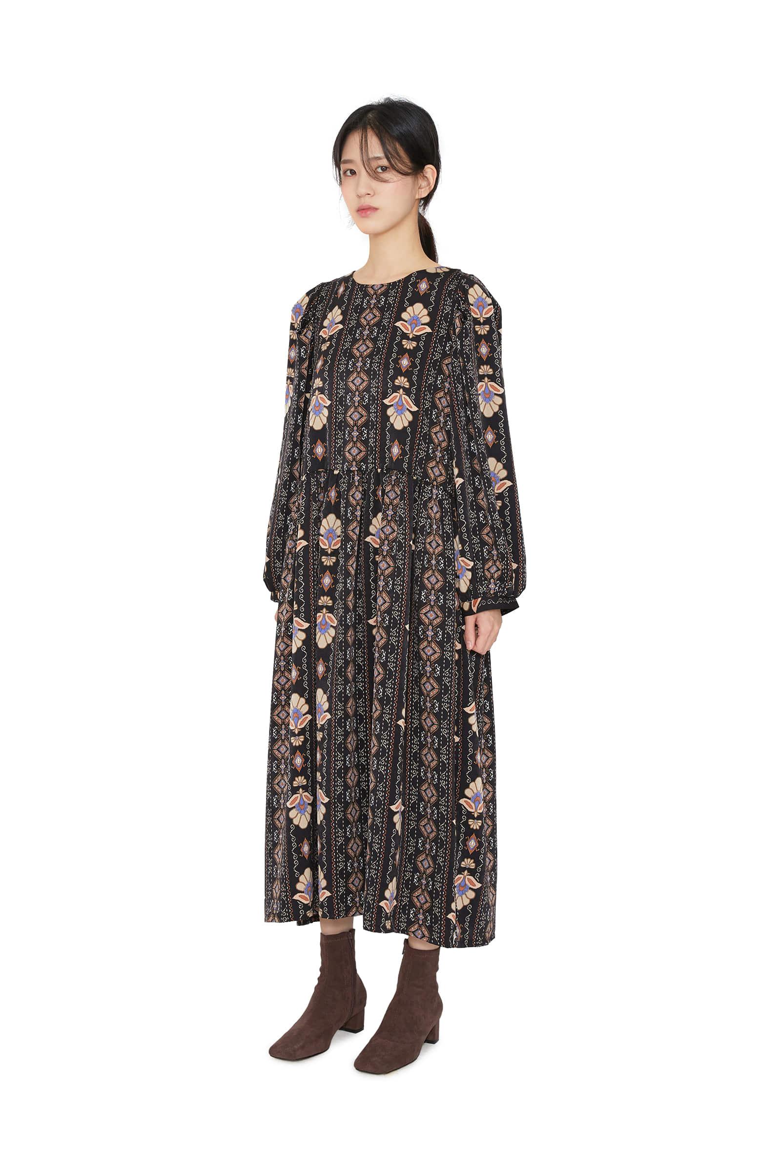 Looney pattern midi dress