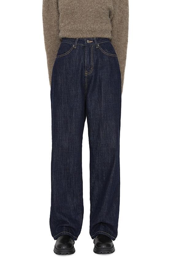 Heve brushed wide jeans 牛仔褲