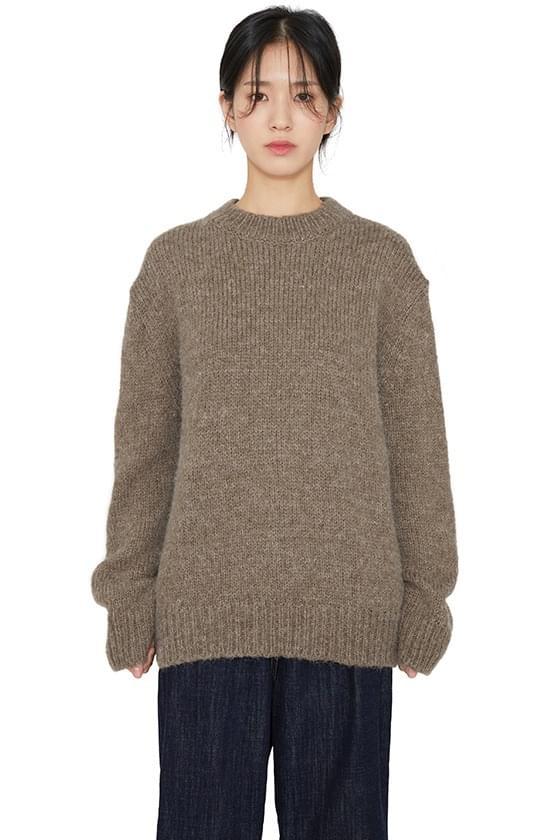 Creamy crew neck knit 針織衫