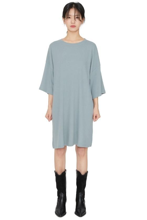 Soft overfit brushed mini dress 洋裝