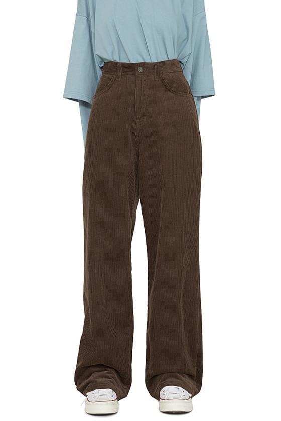 Muffin corduroy wide trousers 長褲