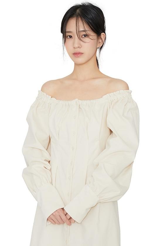 Charming corduroy mini dress